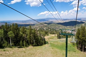 Summer in Park City!  View from the ski lift at Deer Valley in Park City, Utah